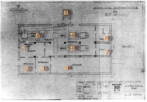 existence des chambres gaz plan d une chambre à gaz et de crématoire firme topf und