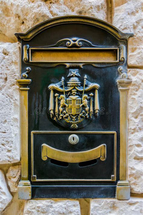 vintage metal mailbox in mdina malta stock image image of backdrop mail 50008033