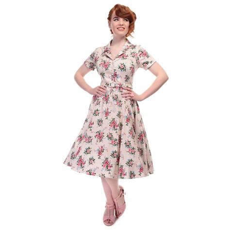 swing dresses collectif vintage caterina 40s floral swing dress