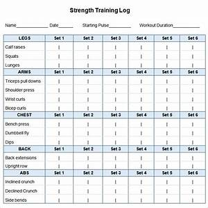 personal training program template - workout plan template word planner template free