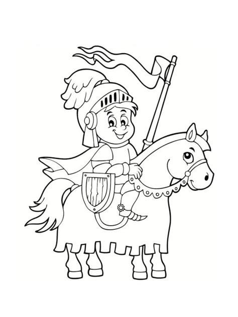 coloriage chevalier  dessins  imprimer gratuitement