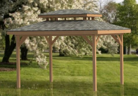 double hip roof gazebo building plans perfect  hot tubs ebay