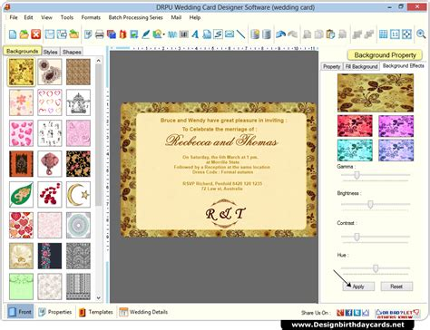 wedding cards design software  create marriage