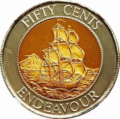 Elizabeth Gold Endeavour Hms Ii Cents Proof