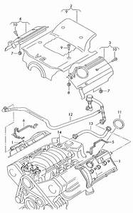 Audi Cover Cover For Engine Compartment Ventilation For