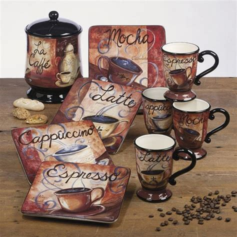 coffee themed kitchen canisters awesome coffee themed kitchen decor goodsgn