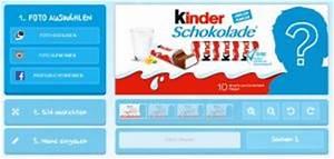 kinderschokolade packung gestalten