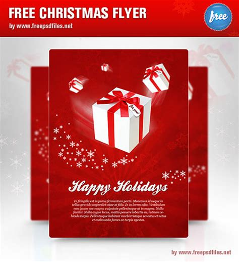 christmas cleaning templates 32 awesome free psd flyer templates web graphic design