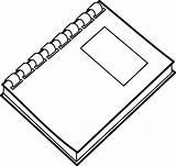 Notebook Spiral Clip Clipart Clker Vector sketch template