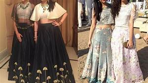 Party wear Long skirts with crop top | Indo western long skirt with crop... | Indian Fashion ...