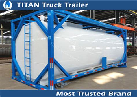 Iso Tank Container Tanker Trailer For Diesel Fuel , Petrol