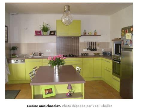 cuisine chocolat et vert anis décoration salon vert anis et marron déco sphair
