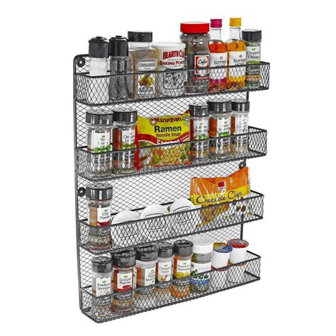 4 Tier Spice Rack by Southern Homewares 4 Tier Wall Spice Rack Sh Hd 10207