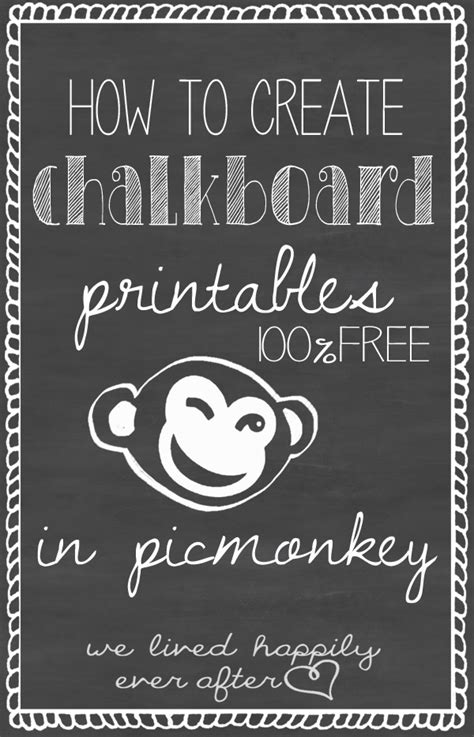 lived happily     create chalkboard