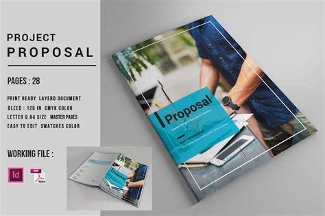indesign business proposal template  behance