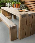 Make Outdoor Wood Table by How To Create An Outdoor Table And Benches Better Homes And Gardens