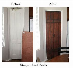 simpsonized crafts turning bi fold doors into faux barn With barn door examples