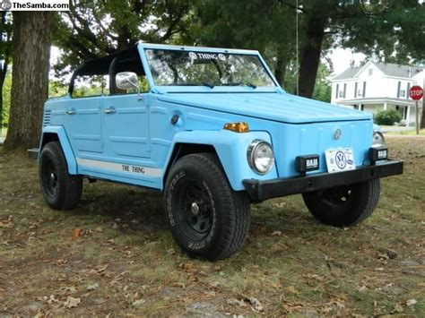 Light Blue Volkswagen Thing/181, Weird But I Like It