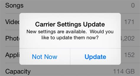 what is carrier settings update on iphone what is that carrier settings update popup on your iphone