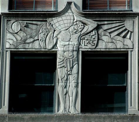 deco atlas deco bas relief of atlas from the facad flickr