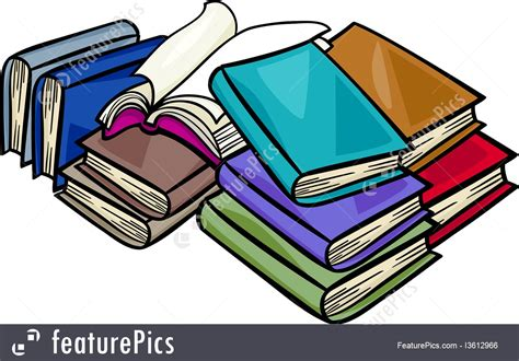 Heap Of Books Cartoon Illustration