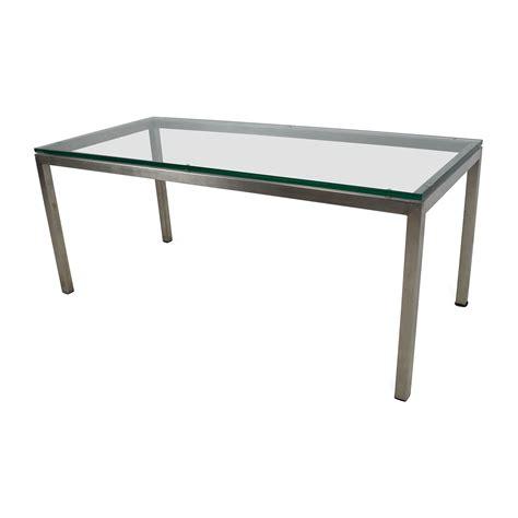 room board coffee table 82 off room and board room and board glass coffee table