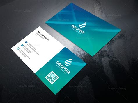 aqua professional corporate business card template