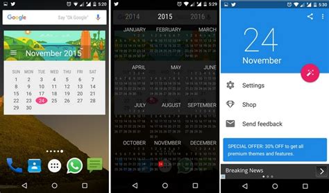 calendar widget android 17 best android widgets to enhance homescreen