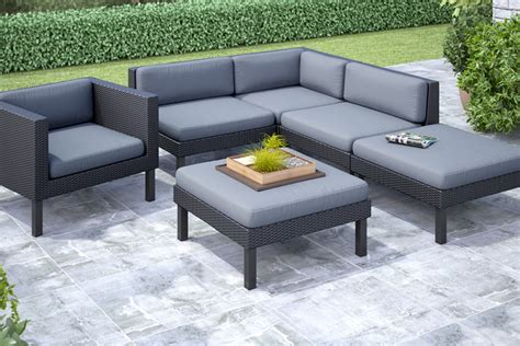 oakland 6 piece sectional with chaise lounge and chair