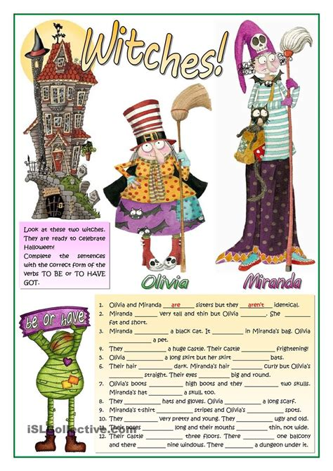 witches     images halloween worksheets