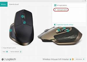 Logitech software with thumb button support