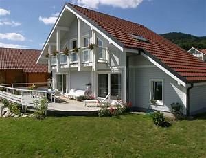 maison bois traditionnelle avec bardage canexel nos With maison avec bardage bois