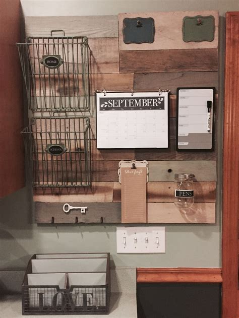Best Pallet Projects   Home command center, Command center