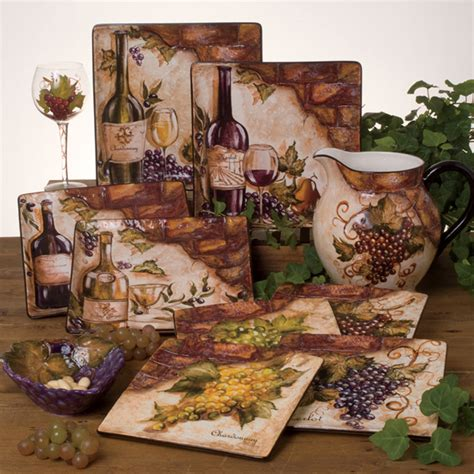 tuscany grape decor for kitchen tre sorelle home designs painted tile murals