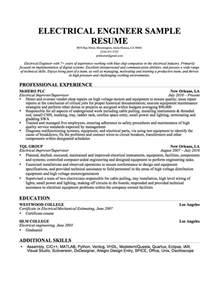 electrical engineer resume sle resume genius