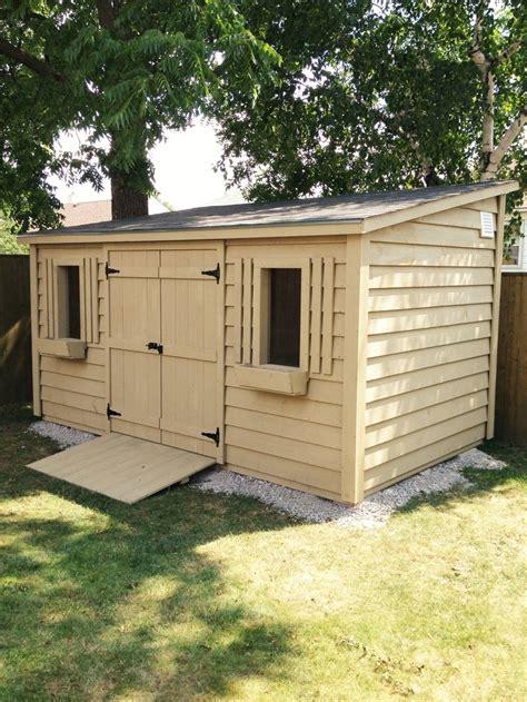 lean  shed  ftdouble door   windows