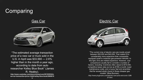 Electric And Gas Cars by Electric Cars Vs Fuel Cars