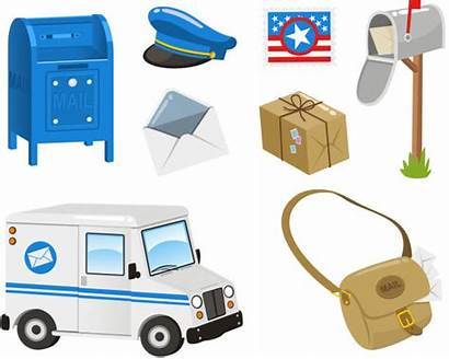 Mail Package Slot Bag Box Clip Illustrations