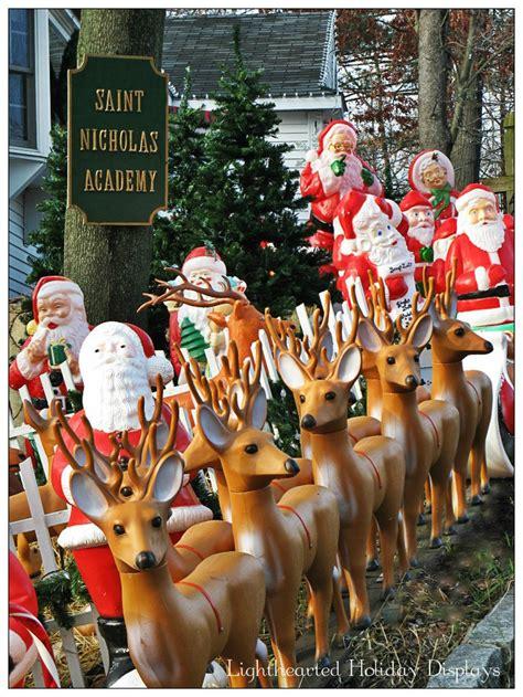 reindeer team blow mold blow molding christmas