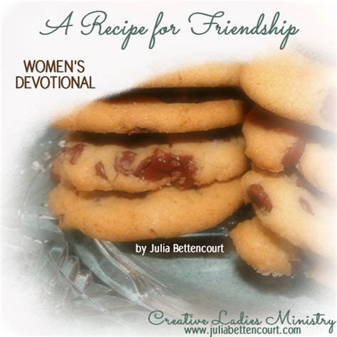 Bettencourt Baby Shower Devotional - friendship recipe womens devotional by bettencourt
