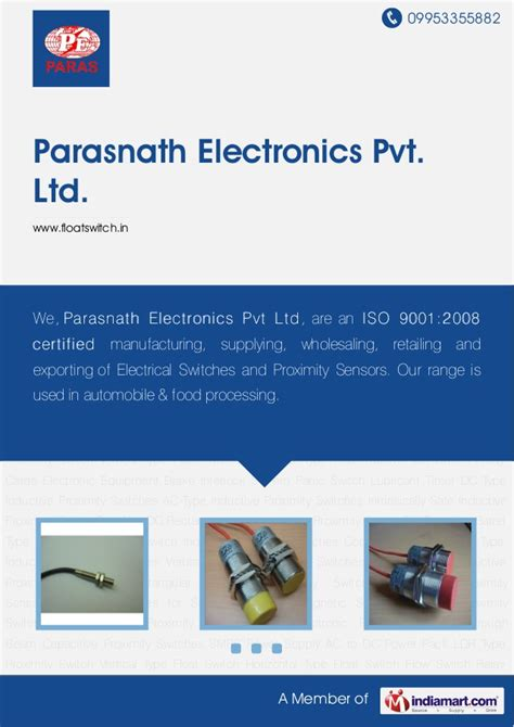 Type Inductive Proximity Switches Parasnath