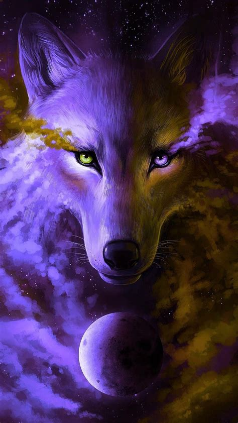 Blue And Purple Wolf Wallpaper by Wolf Wallpapers Top Free Wolf Backgrounds