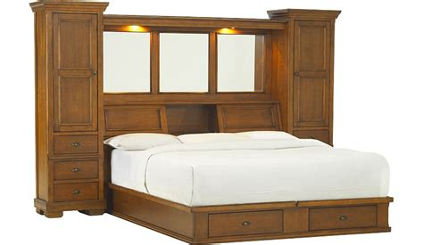 king bed with bookcase headboard sonoma valley king wall bed with storage platform