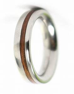 with luxe wood wedding rings couples make a statement With metal and wood wedding rings