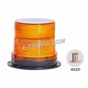 40 Led 3 Mode Beacon Lamp Rotate Flash Warning Strobe