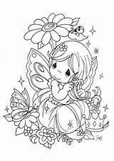 Fairy Coloring Easy Tulamama sketch template