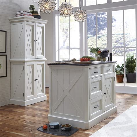 distressed white kitchen island home styles seaside lodge rubbed white kitchen island 6794