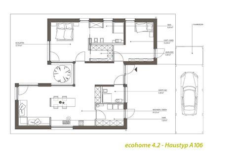 singlehaus typ  atriumbungalow hausplaene haus
