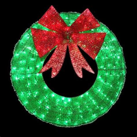 home accents holiday   led green sparkling tinsel