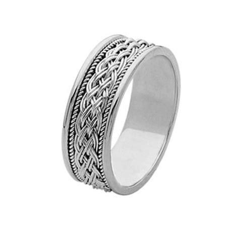 pp platinum hand  braided wedding band